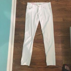 Lilly Pulitzer White Resort Skinny Pants Size 2